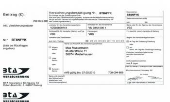 Evb Nummer Fur Kurzzeitkennzeichen Mit Gruner Karte