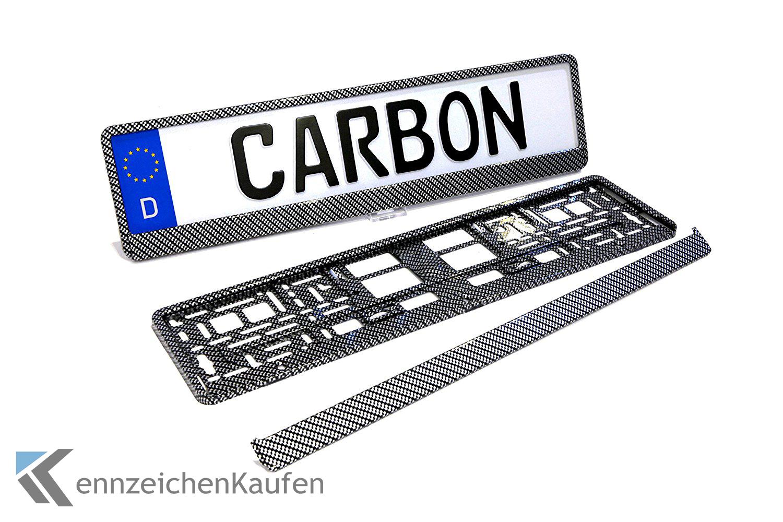 2 Carbon Kennzeichenhalter | Nummernschildhalter ...