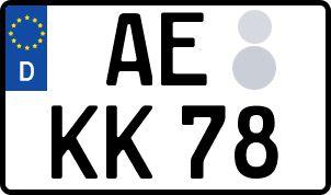 amtliches Eurokennzeichen Auerbach/Vogtl.