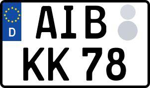 Vorgang zum Wunschkennzeichen in Bad Aibling