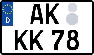 amtliches Eurokennzeichen Altenkirchen