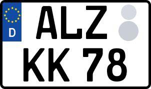 amtliches Eurokennzeichen Alzenau