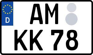 Vorgang zum Wunschkennzeichen in Amberg