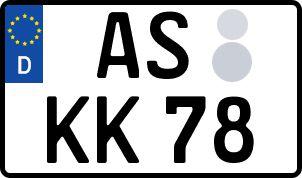 amtliches Eurokennzeichen Amberg-Sulzbach