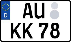 amtliches Eurokennzeichen Aue (Sachsen)