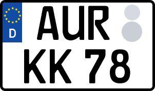 amtliches Eurokennzeichen Aurich