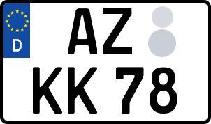 Vorgang zum Wunschkennzeichen in Alzey