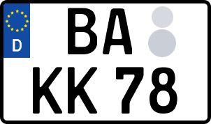 amtliches Eurokennzeichen Bamberg