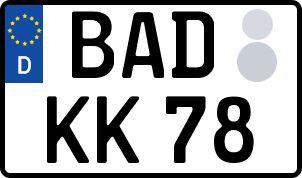 Vorgang zum Wunschkennzeichen in Baden-Baden
