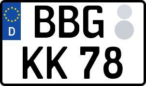 amtliches Eurokennzeichen Bernburg (Saale)