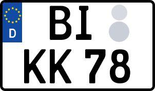 Die besten Wunsch-Kennzeichen in Bielefeld