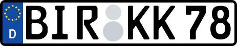 amtliches Eurokennzeichen Birkenfeld