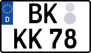 amtliches Eurokennzeichen Rems-Muhr-Kreis