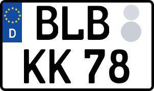 amtliches Eurokennzeichen Bad Berleburg
