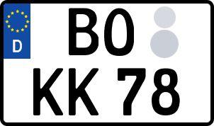 amtliches Eurokennzeichen Bochum