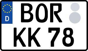 amtliches Eurokennzeichen Borken