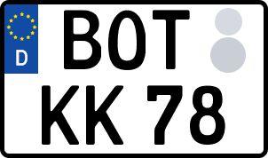 Der amtliche Weg zum Wunschkennzeichen in Bottrop