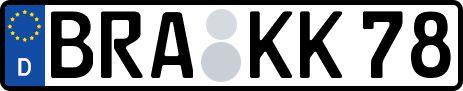 amtliches Eurokennzeichen Brake (Unterweser)