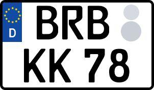 amtliches Eurokennzeichen Brandenburg an der Havel