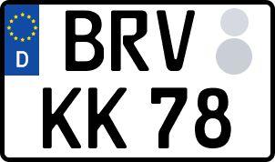 amtliches Eurokennzeichen Bremervörde