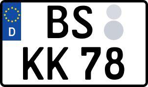 amtliches Eurokennzeichen Braunschweig
