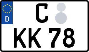 Vorgang zum Wunschkennzeichen in Chemnitz