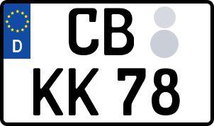 amtliches Eurokennzeichen Cottbus