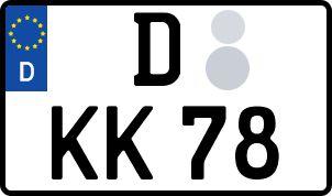 amtliches Eurokennzeichen Düsseldorf