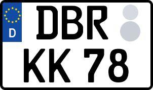 amtliches Eurokennzeichen Bad Doberan
