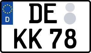 amtliches Eurokennzeichen Dessau