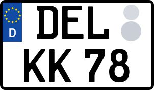 Die besten Wunsch-Kennzeichen in Delmenhorst