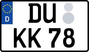 Die besten Wunsch-Kennzeichen in Duisburg