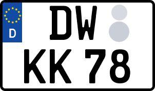 amtliches Eurokennzeichen Dippoldiswalde