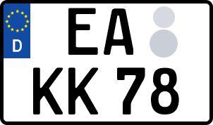 amtliches Eurokennzeichen Eisenach