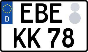amtliches Eurokennzeichen Ebersberg