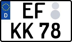 amtliches Eurokennzeichen Erfurt