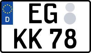 amtliches Eurokennzeichen Eggenfelden