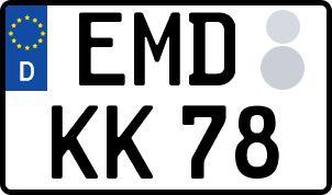 amtliches Eurokennzeichen Emden