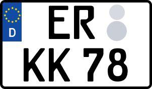 amtliches Eurokennzeichen Erlangen