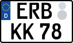 amtliches Eurokennzeichen Erbach (Odenwald)