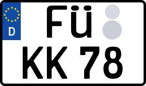Vorgang zum Wunschkennzeichen in Frankenthal