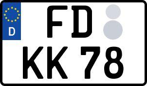amtliches Eurokennzeichen Fulda