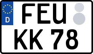 amtliches Eurokennzeichen Feuchtwangen