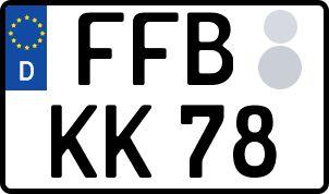 amtliches Eurokennzeichen Fürstenfeldbruck