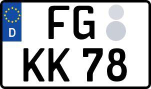 amtliches Eurokennzeichen Freiberg