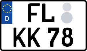 amtliches Eurokennzeichen Flensburg