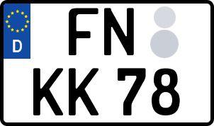 Vorgang zum Wunschkennzeichen in Friedrichshafen