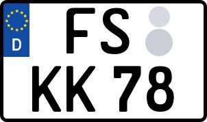 amtliches Eurokennzeichen Freising