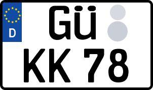 amtliches Eurokennzeichen Güstrow