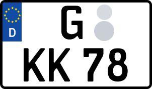 Vorgang zum Wunschkennzeichen in Gera